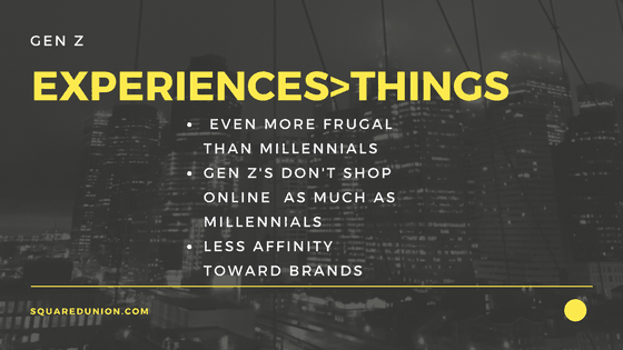 Gen Z Experiences-Things